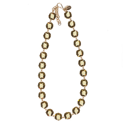 Sculpted Sparkle Necklace - Khaki