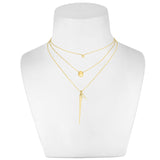 14K Gold Pebble Necklace - AMANDA PEARL