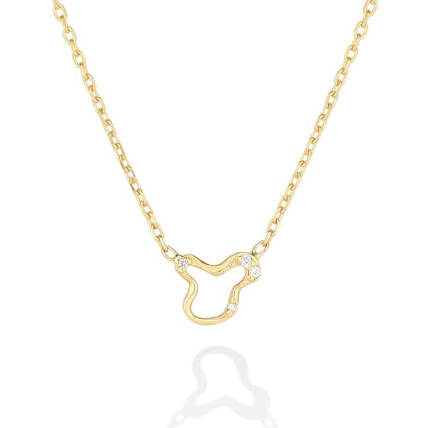 Ripple Chain Necklace - Demi Pavé - AMANDA PEARL