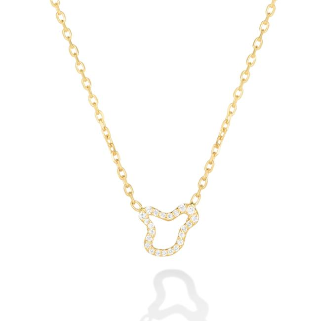 Ripple Chain Necklace - Full Pavé - AMANDA PEARL