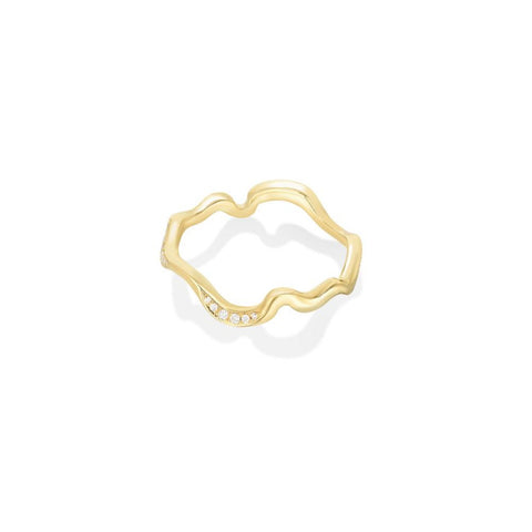 Ripple Ring - Demi Pavé