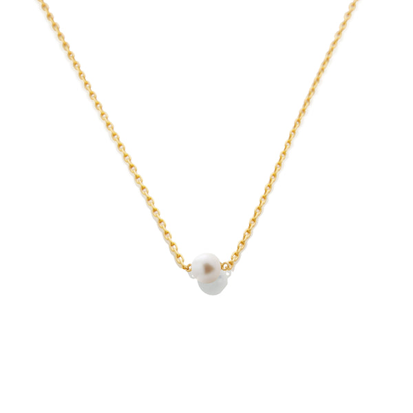 SAMPLE SALE - Pearl Chain Necklace - AMANDA PEARL
