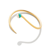Enamel/Pearl Bypass Bracelet - Emerald - AMANDA PEARL - elegantly edgy accessories