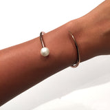 Pearl Bypass Bracelet - Rose Gold - AMANDA PEARL