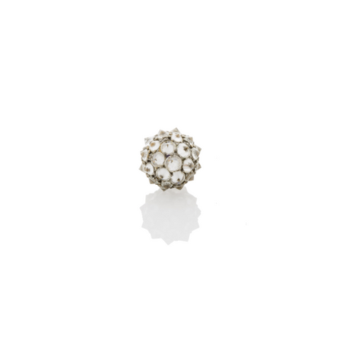 Stone Spiked Urchin Stud Earring
