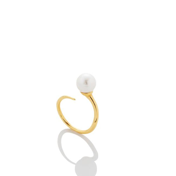 8mm Pearl Bypass Ring - AMANDA PEARL