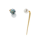 Quill Spike with 8mm White Pearl Earring - AMANDA PEARL