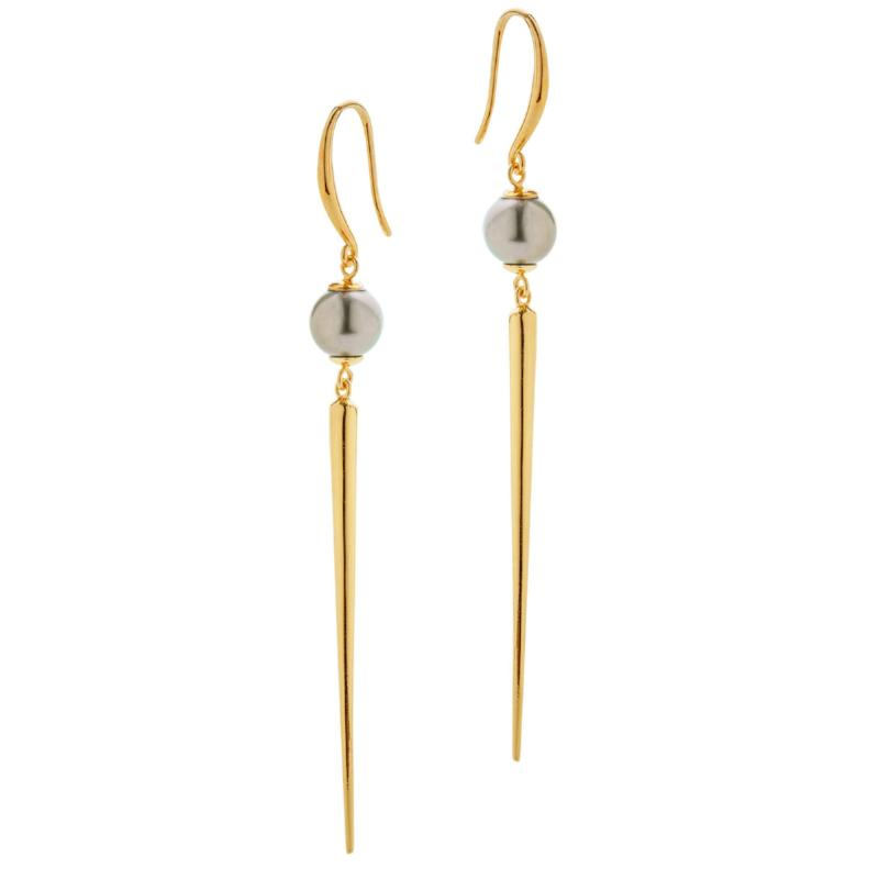 Quill Spike Drop Earring - AMANDA PEARL