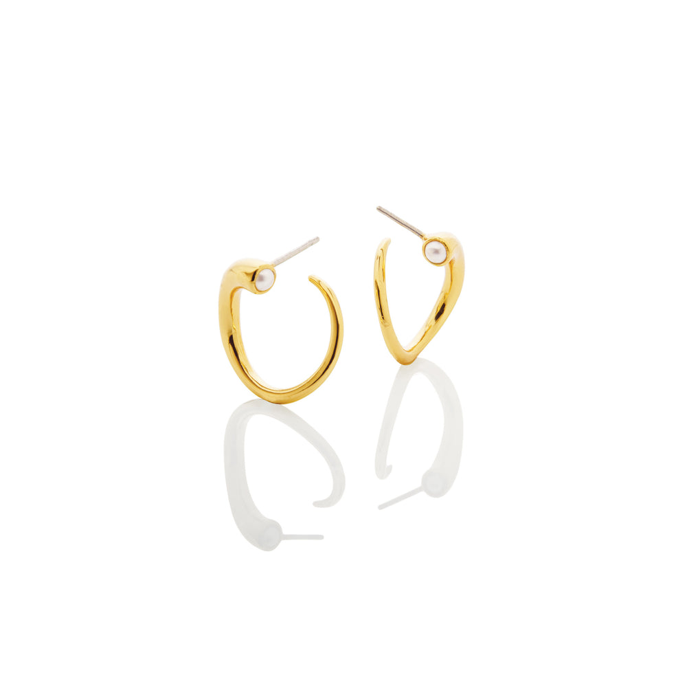 Quill Hoop Earrings - AMANDA PEARL