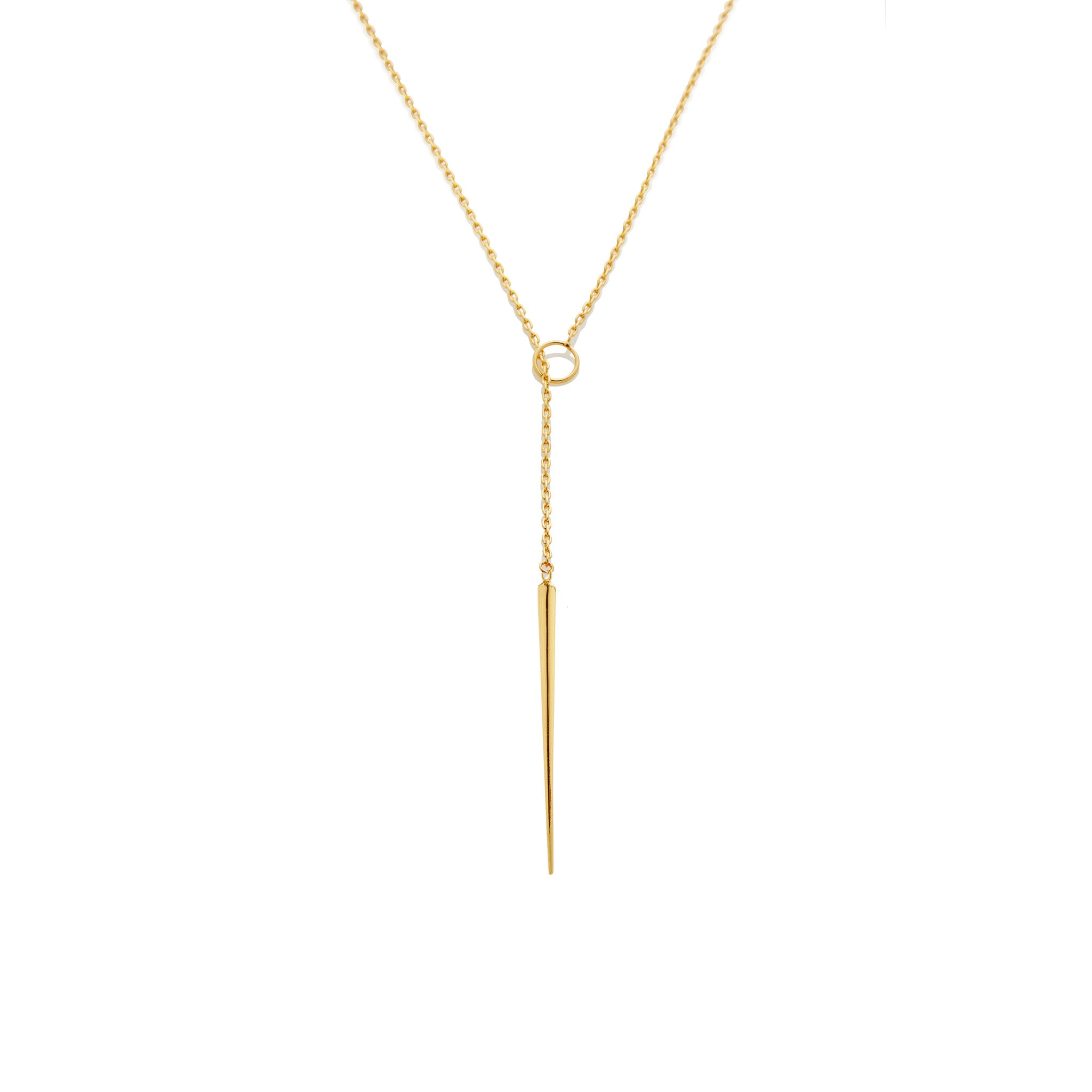 Quill Spike Lariat - AMANDA PEARL - elegantly edgy accessories