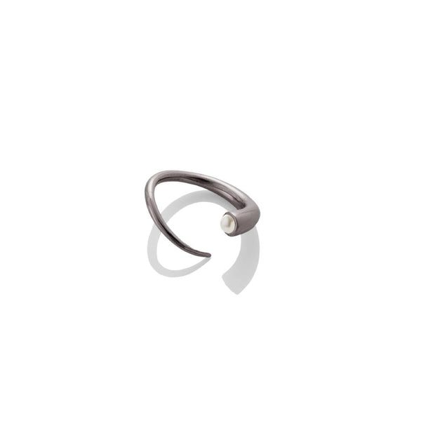 Quill Bypass Ring - Gunmetal - AMANDA PEARL