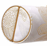 White & Gold Palms Roll Clutch - AMANDA PEARL