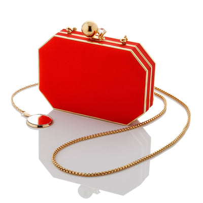 Sena: Tomato Red Octo Clutch