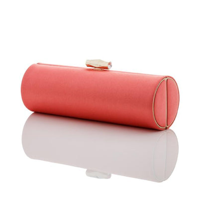 Elise: Coral Duchess Roll Clutch