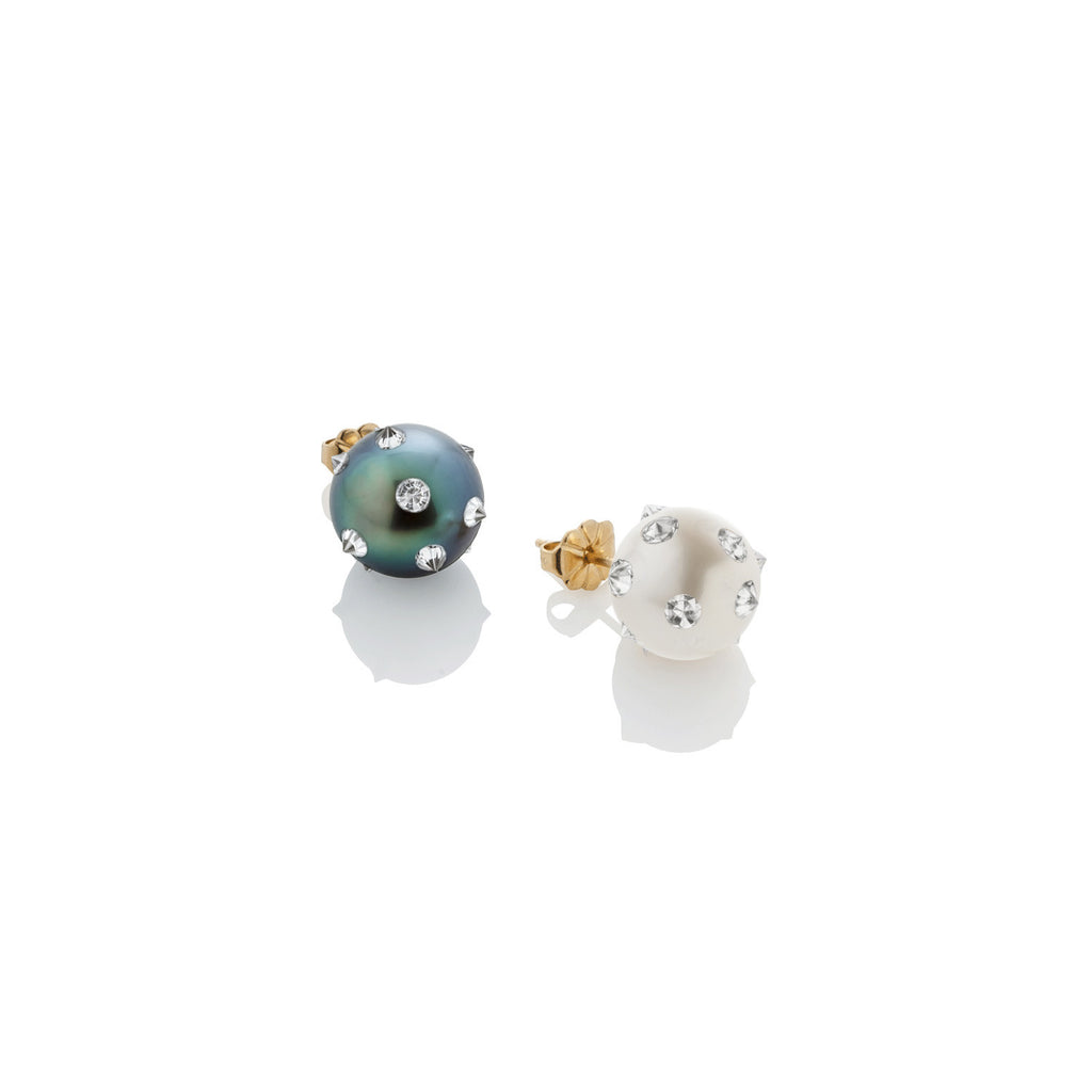 Spiked Pearl Stud Earring - AMANDA PEARL - elegantly edgy accessories
