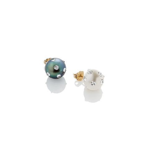 8mm Spiked Pearl Stud Earring - AMANDA PEARL - elegantly edgy accessories