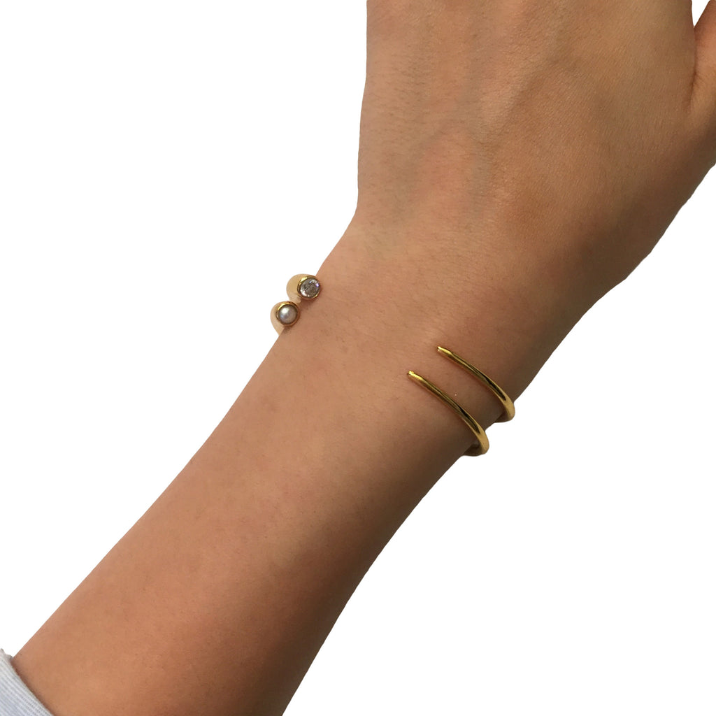 Quill Cuff - AMANDA PEARL - elegantly edgy accessories