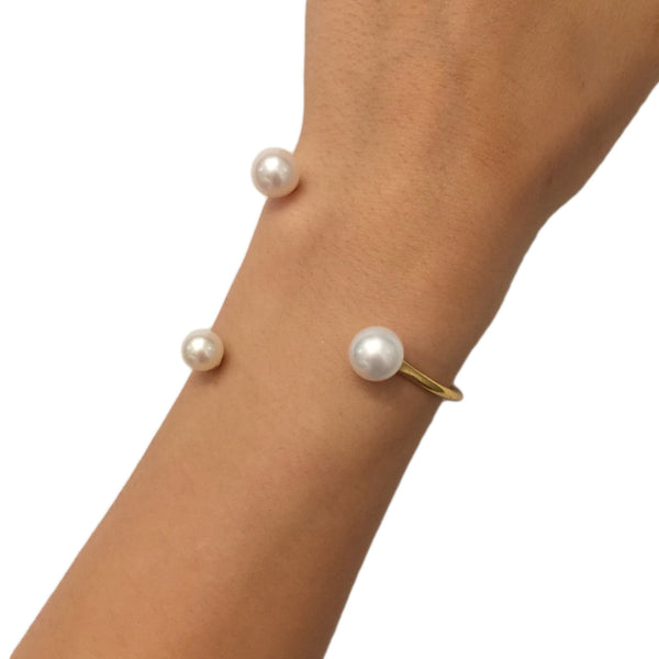 Floating Pearls Bracelet - AMANDA PEARL