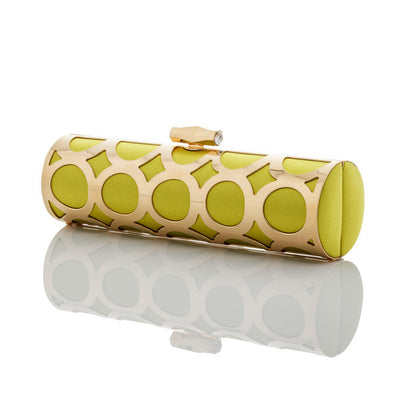 Lisa: Chartreuse Duchess Alessia Clutch