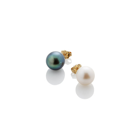 8mm Pearl Stud Earring - AMANDA PEARL - elegantly edgy accessories