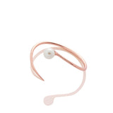 SAMPLE SALE - Pearl Bypass Bracelet - Rose Gold - AMANDA PEARL