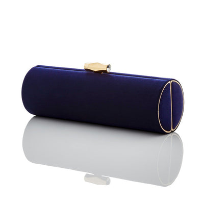 Sara: Navy Duchess Roll Clutch