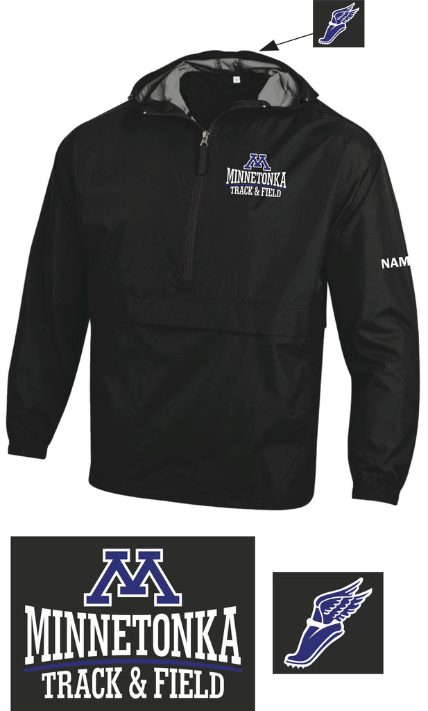 Minnetonka Track & Field Pullover Pack jacket with Name
