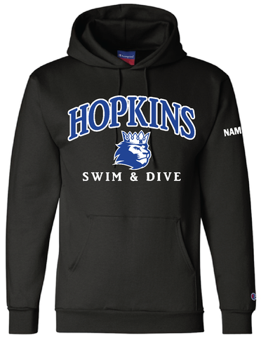 Hopkins Swim & Dive Hood with name
