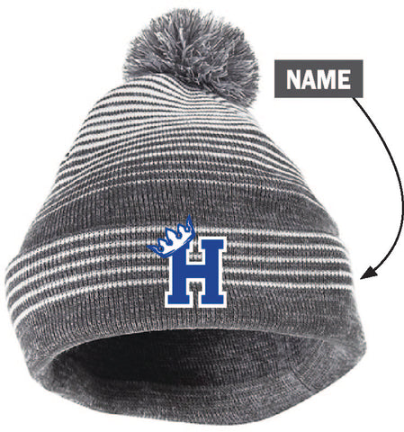 Hopkins Swim & Dive Pom hat with name