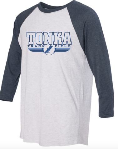 Minnetonka East Track & Field 3/4 sleeve baseball T