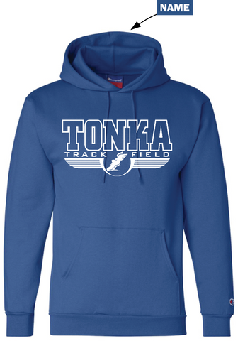 Minnetonka East Track & Field Hooded sweatshirt with name