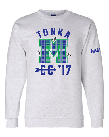 Minnetonka Middle School West Cross Country Crew Sweatshirt w/Name