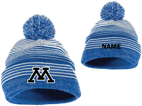 Minnetonka Track & field Knit hat with name