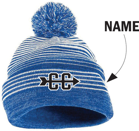 Minnetonka Middle School West Cross Country Knit Pom Hat w/Name
