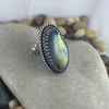 Mandana Studios sterling silver BIG LABRADORITE ADJUSTABLE RING