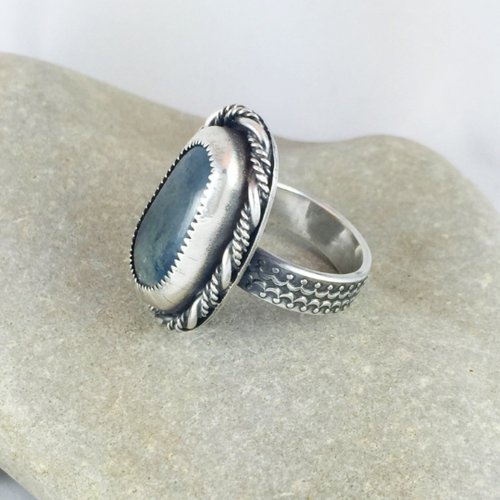 Mandana Studios sterling silver BLUE KYANITE RING