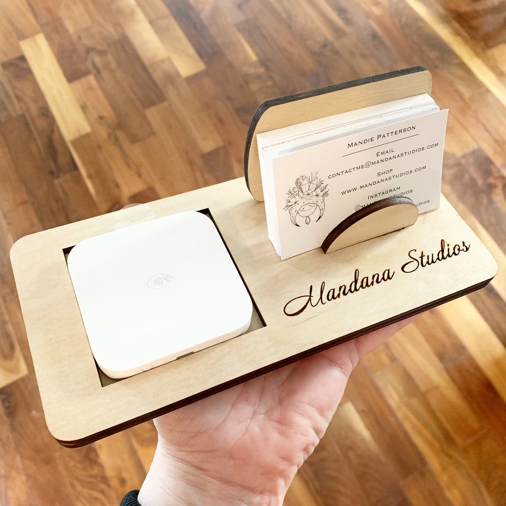 Custom Square Reader Tap Station & Business Card Holder