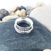 Mandana Studios sterling silver HAMMERED STERLING SILVER SPINNER RING