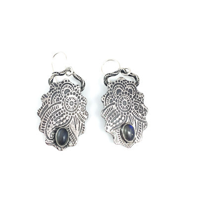 LABRADORITE HENNA EARRINGS
