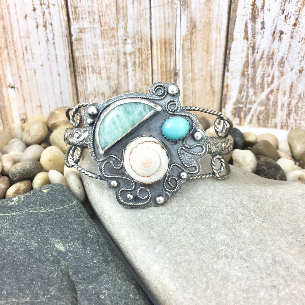 Mandana Studios sterling silver Amazonite SEASIDE MERMAID CUFF