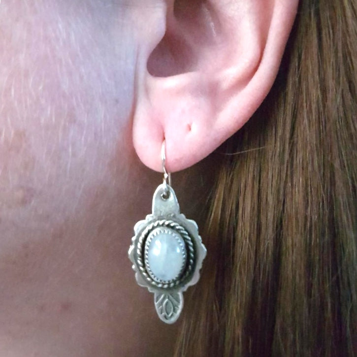 Mandana Studios sterling silver moonstone earrings
