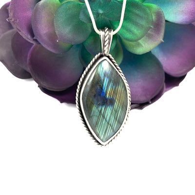 Blue Cats Eye Pendant