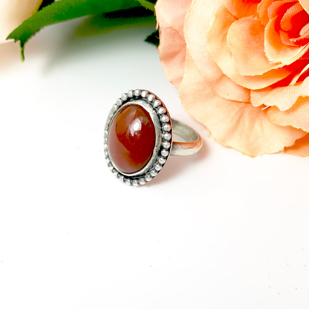 Mandana Studios DEEP RED JASPER RING