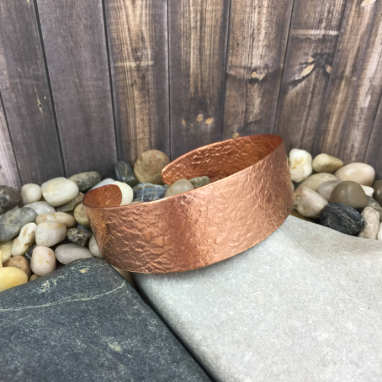 Mandana Studios copper LARGE TEXTURED COPPER CUFF