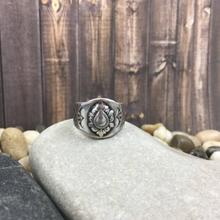Load image into Gallery viewer, Mandana Studios sterling silver STAMPED SIGNET BAND RING