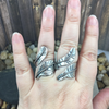 Mandana Studios sterling silver WRAP AROUND FEATHER RING