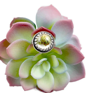 Mandana Studios Cannabis ring, cannabis resin jewelry, afghan kush ring