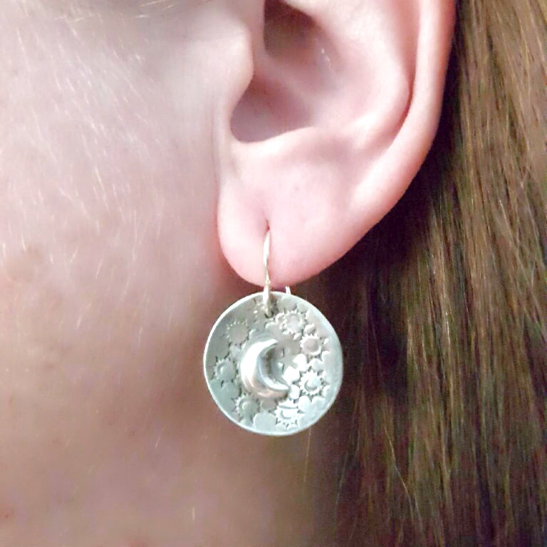 Mandana Studios sterling silver LUNAR MAGIC EARRINGS
