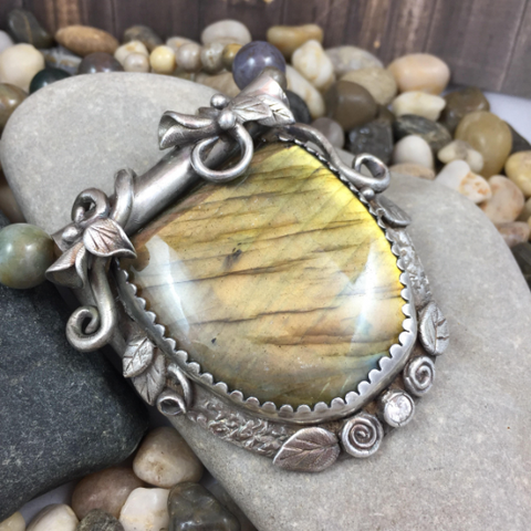 YELLOW BAT TOTEM PENDANT
