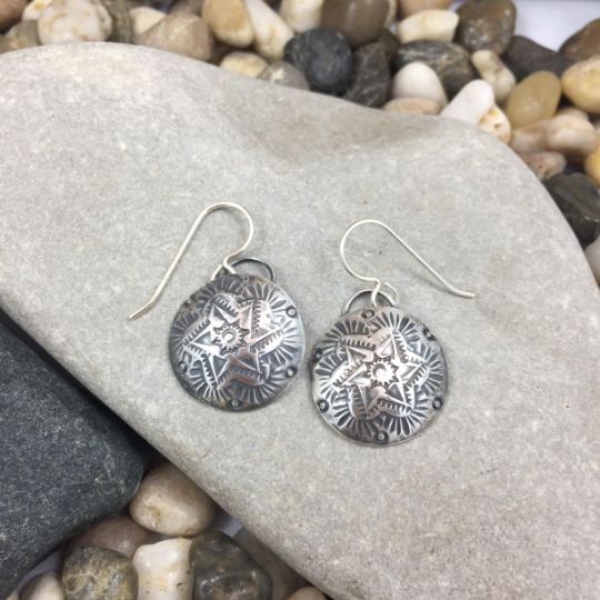 Mandana Studios sterling silver MANDALA STARS EARRINGS
